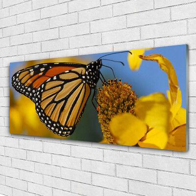 Tableau toile déco Fleurs papillon 1576435