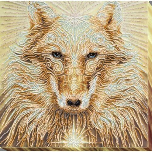 Bead Embroidery Kit DIY Wolf Beaded needlepoint Beadwork Beading