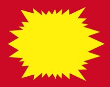 Bogo Sunburst Price Display Signs Red And Yellow 50pcs 55x7 Retail Sale Signs