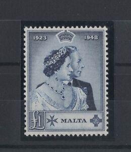 Details about 1949 Malta Silver Wedding SG 250 MUH - RARE Stamp