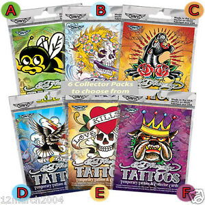 Ed Hardy Temporary Tattoos & Collector Cards by Savvi (6 packs to ...
