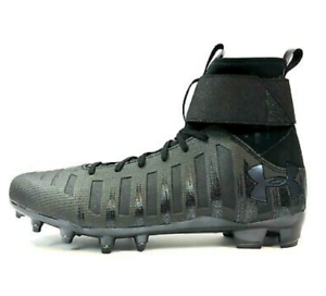 New Under Armour Mater Cylindre Cam Newton Football Crampons C1n 1289763-001 Chaussures Noires-afficher Le Titre D'origine