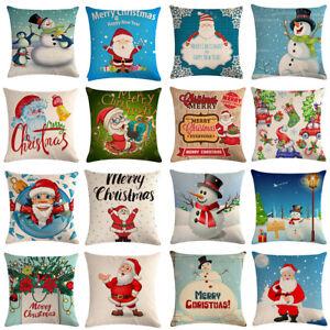 18-034-Christmas-Burlap-Throw-Pillow-Case-Fall-Decorative-Couch-Car-Cushion-Covers