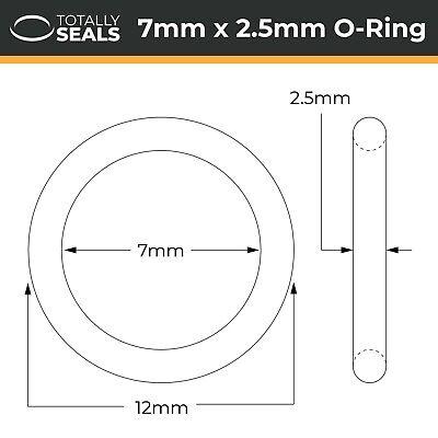 O Ring Metric Viton 6mm Inside Dia x 2mm Section