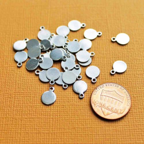 MT028 10 Stainless Steel Tags Perfect for Stamping 9.5mm x 7mm