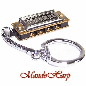 Lee-Oskar-Miniature-Harmonica-LO4-Oskamonica-4-hole-with-Key-Ring-NEW