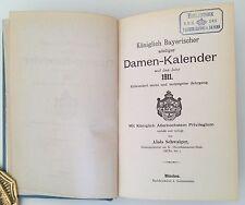 Königlich Bayerischer Adeliger Damenkalender 1911,  Adelsbesitz,  Prinz Bayern