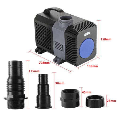 10000l//h 80W SuperECO Teichpumpe Bachlaufpumpe Filterpumpe Teich Gartenpumpe DHL