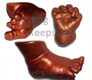 CHILD Bronzing Foot Hand CASTING KIT Molding Casting Toddler - Bronze