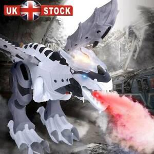 Walking Dragon UK Toy Fire Breathing Water Spray Dinosaur Kids Christmas Gift