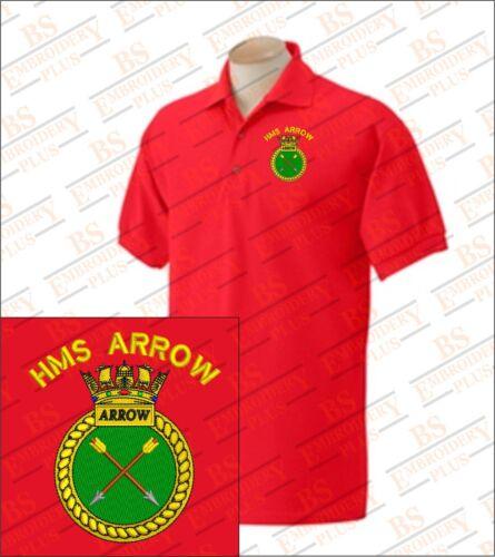 HMS ARROW  Embroidered Polo Shirts