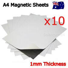 10 x A4 Magnet Sheets with Adhesive Front Layer for Home and Office 1mm 1.0mm