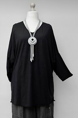 """PLUS SIZE WASHED LINEN BEAUTIFUL OVERSIZED TUNIC//TOP**BEIGE**BUST UP TO 54/"""" OSFA"""