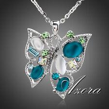 NEU AZORA Anhänger Schmetterling mit Stellux Crystal + Halskette Platin Pl , 006