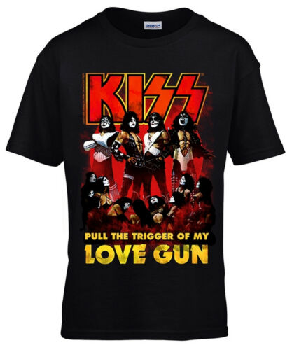 Kiss /'Love Gun/' Kids T-Shirt NEW /& OFFICIAL!