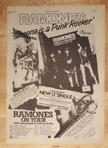 Ramones-sheena-punk-rocker-tour-1977-press-advert-Full-page-28-x-38-cm-poster