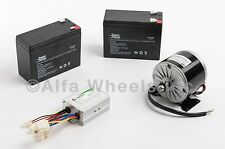 350 Watt 24 V electric motor kit w SLA Batteries & Speed Control f gokart razor