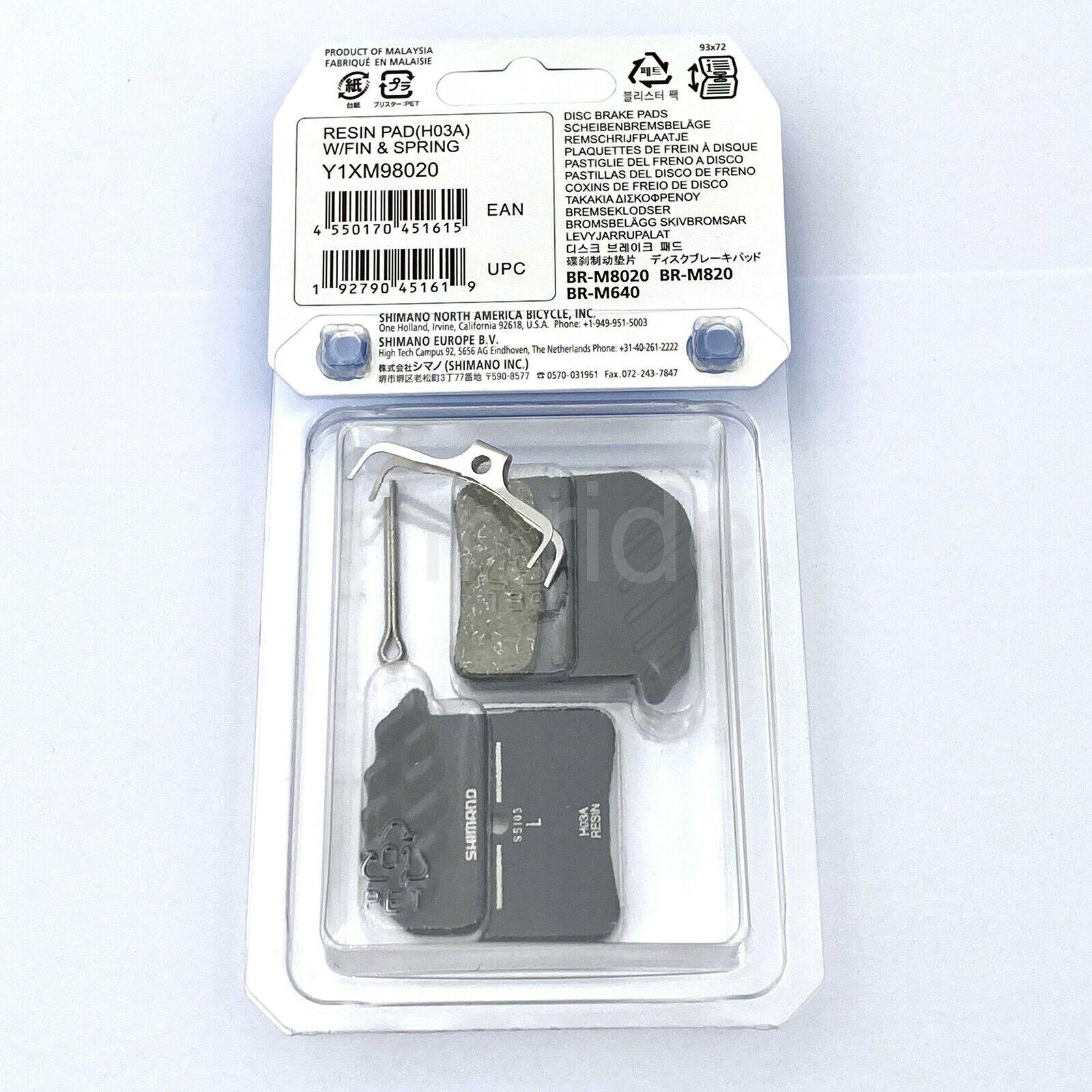 Shimano H03A Resin H03C Metal Disc Brake Pads 4 Piston For M8020 M820 M640 MTB