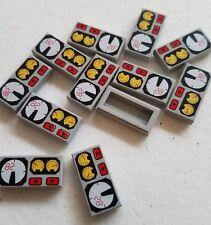 50 new Lego printed 1x2 light gray tile gauge speedometer engine panel car train