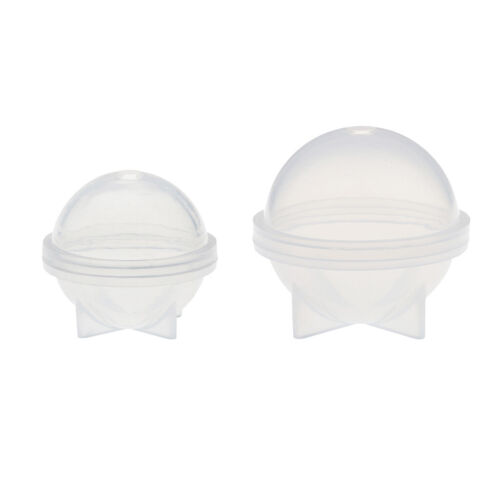 2pcs Sphere Silikonform für Resin Casting Schmuckherstellung Mould 20mm