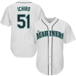 Ichiro Suzuki #51 Seattle Mariners Classic Baseball Jersey White ...
