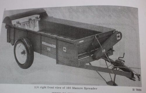 160 Power Drive Manure Spreader Set Up /& Owner/'s Manual IH armall McCormick No