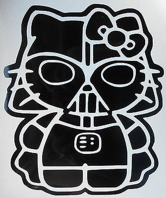 Hello Kitty Darth Vader Star Wars, Car, Wall,Vehicle, Vinyl Sticker Decal