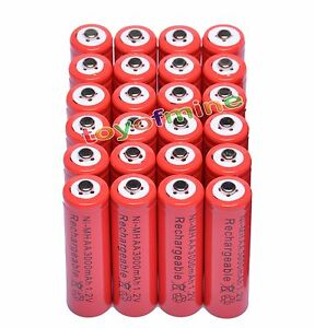 24x-AA-2A-3000mAh-1-2V-Ni-Mh-Red-Color-Rechargeable-Battery-for-RC-MP3-Camera
