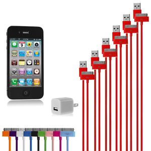6-Pack-USB-Data-Sync-Cables-1-Wall-Charger-Adapter-Cube-For-Apple-iPhone-iPod