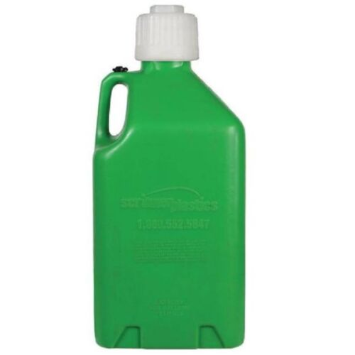 SCRIBNER UTILITY JUG FUEL WATER CAN MOTORSPORT CONTAINER GREEN PLASTIC RACE PIT