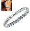 Swarovski-Genuine-Crystal-18K-White-Gold-plated-Bracelet-Gift-box miniatura 3
