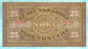 ESTONIA 25 Marka 1922 P54c aVF