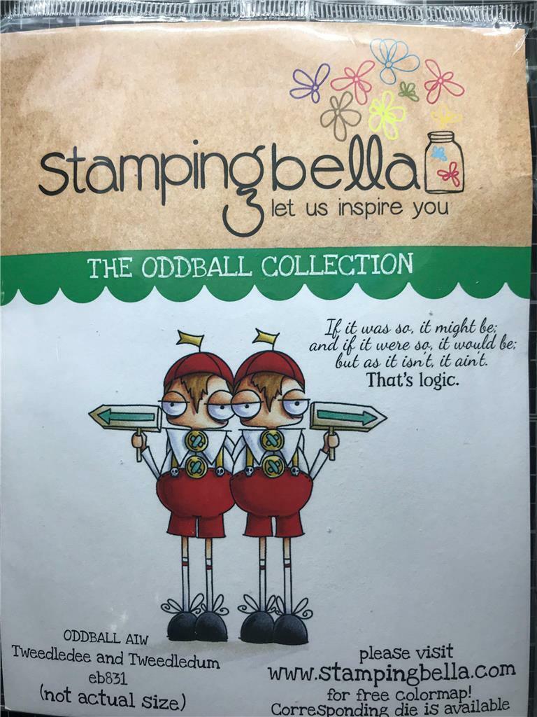 New Stamping Bella Rubber Stamp Alice In Wonderland TWEEDLE ...