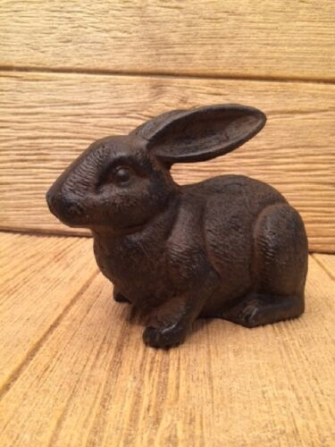 "Rabbit Cast Iron Door Stop 5"" tall 7 12"" long Home & Garden Decor 0170S04669"