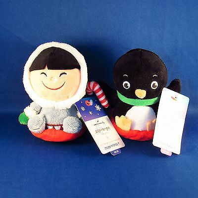 Hallmark - Zip-n-Go Frosty & Penguin - Frosty Friends - Plush Pull Back Toys NEW