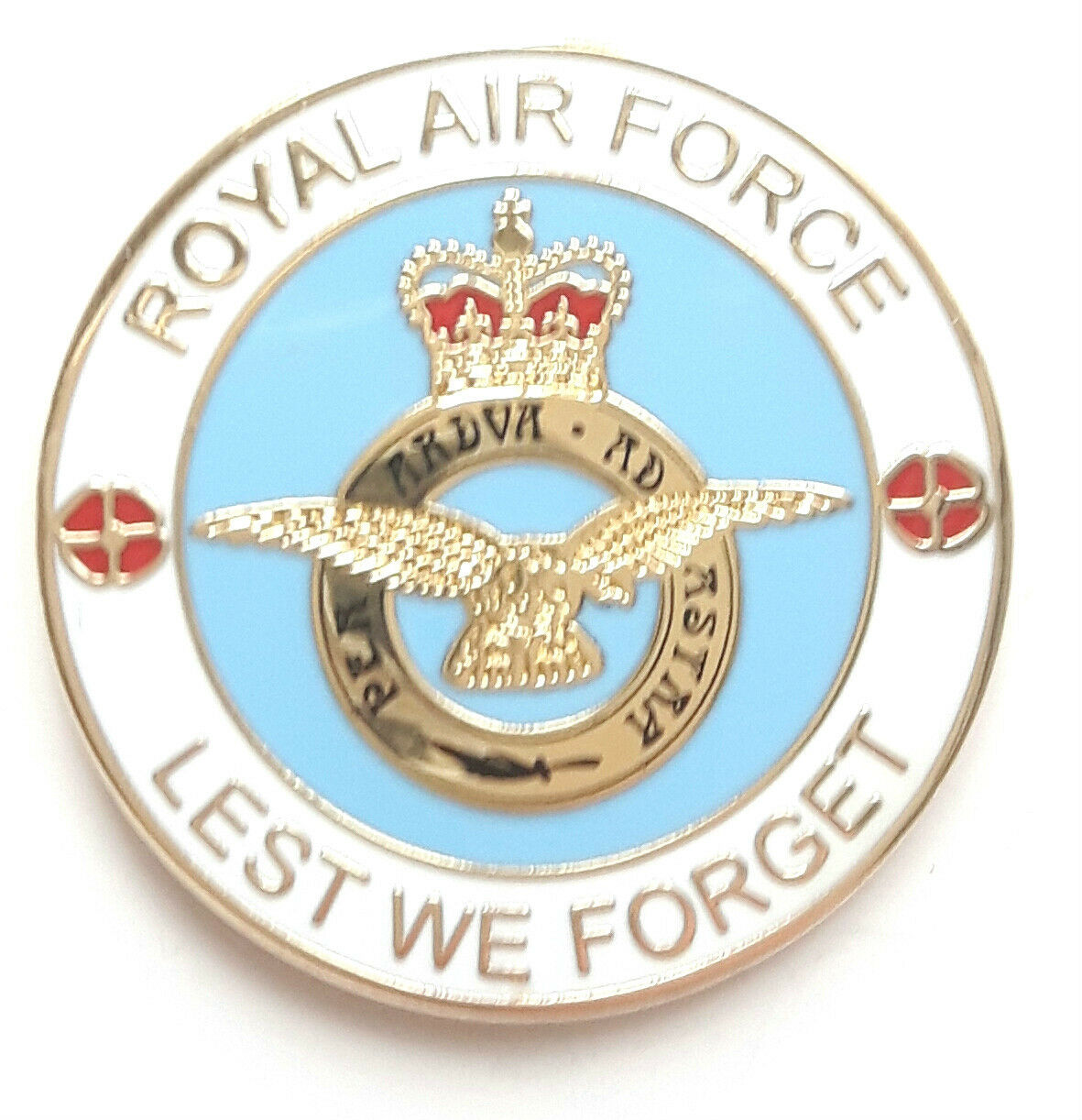 """NEW /""""ROYAL AIR FORCE LEST WE FORGET/"""" ENAMEL PIN BADGE"""