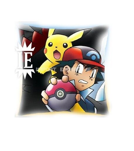 POKEMON ASH AND PIKACHU cushion 40 CM plush pillow oreiller cushion xy pokeball