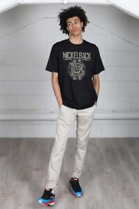 Official-Nickelback-Logo-Circle-Unisex-T-Shirt-Curb-Dark-Horse-Silver-Side-Band