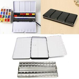 "Watercolor Empty Case Art Drawing Paint 48 Storage Palette Iron Box 8.5*4.5*0.9"""