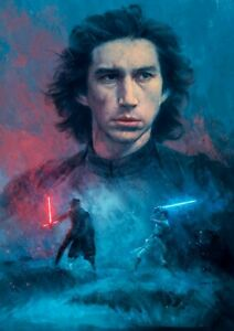The Rise of Skywalker poster print Dark Rey by Jeremy Saliba Star Wars