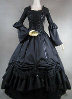 New Adult Victorian Velvet Ruffles Gown Ball Lolita Outfit Costume Cosplay Dress