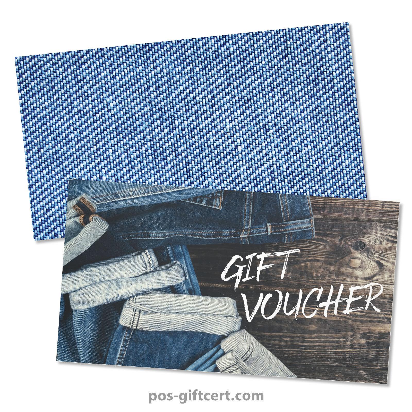 Gift vouchers  envelopes for fashion clothing boutique jeans FA1263GB   Abrechnungspreis    Qualität