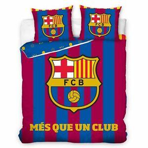 Fc-Barcelona-Mes-que-un-Club-Set-Housse-de-Couette-Double-Coton-Ue-Taille