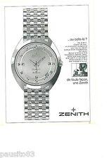 PUBLICITE ADVERTISING 105  1967  ZENITH  la montre CAPTAIN DE LUXE