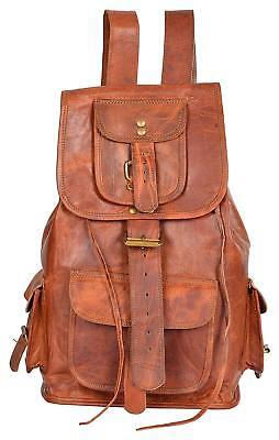 "New VH 18/"" Original Leather BackPack Rucksack Travel Bag For Men/'s and Women/'s"