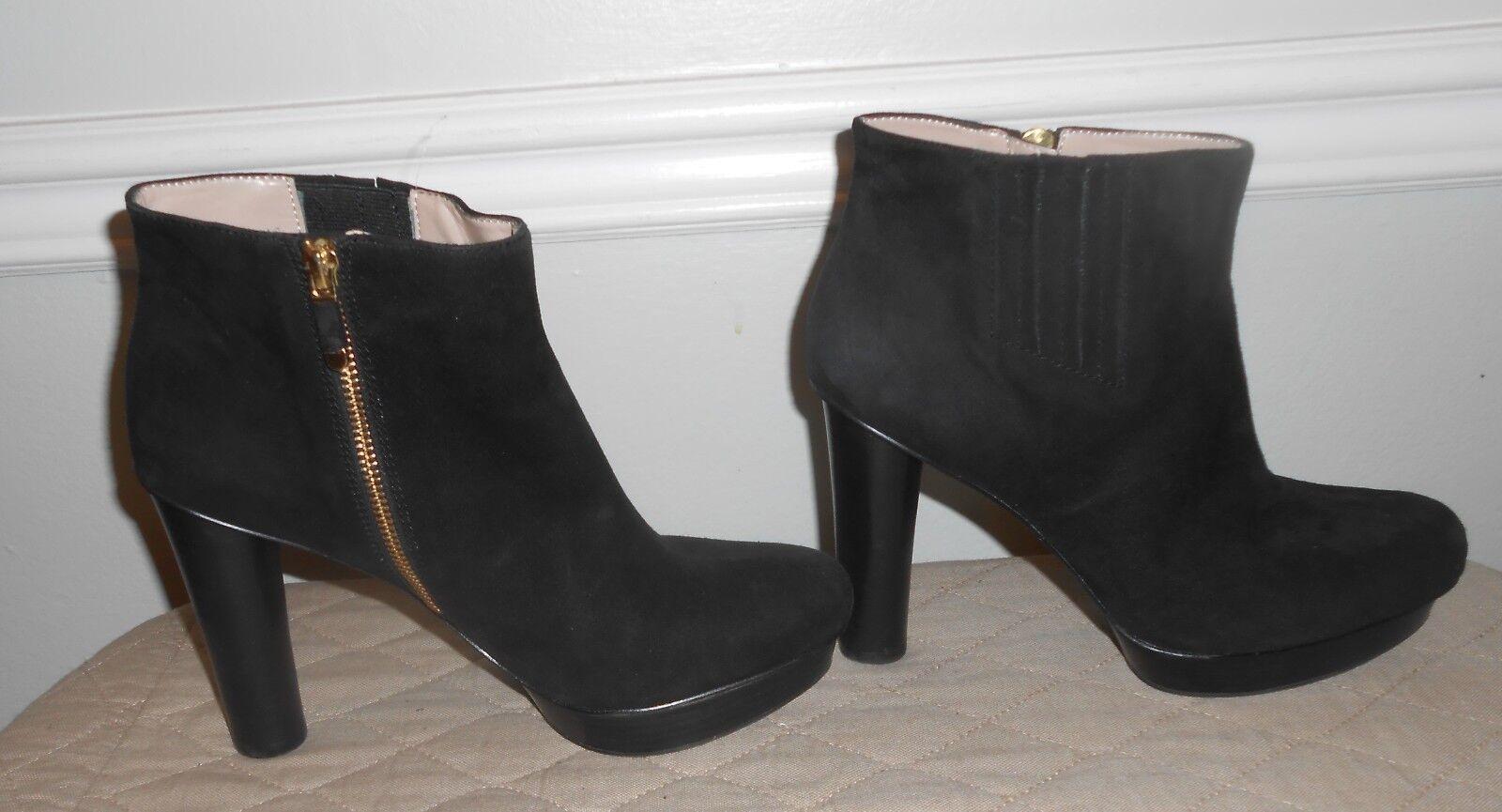 B. MAKOWSKY noir démarrageIES SUEDE ZIPPER ANKLE bottes chaussures SZ 10M Vienna  130