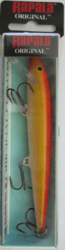 Three Sizes RAPALA Original Floating Minnow Gold Fluorescent Red