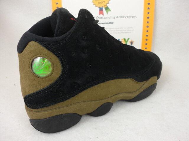 Nike air jordan 13 retro, schwarz / studio wildleder, ROT / licht olive, wildleder, studio größe 9,5 68d562