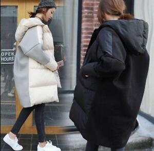 imbottito cappuccio misto Cappotto donna lana con cotone Fashion D620 Parka misto q7YRf