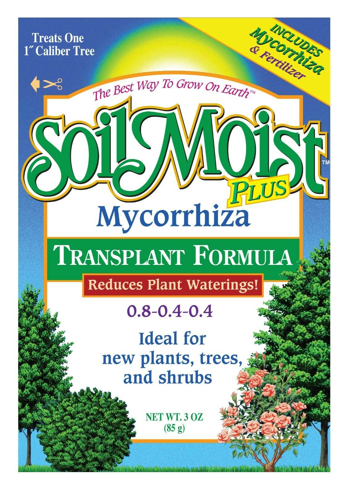 3oz Mycorrhiza Transplant Formula with 0.8-0.4-0.4 Fertilizer Tree Shrubs Plants